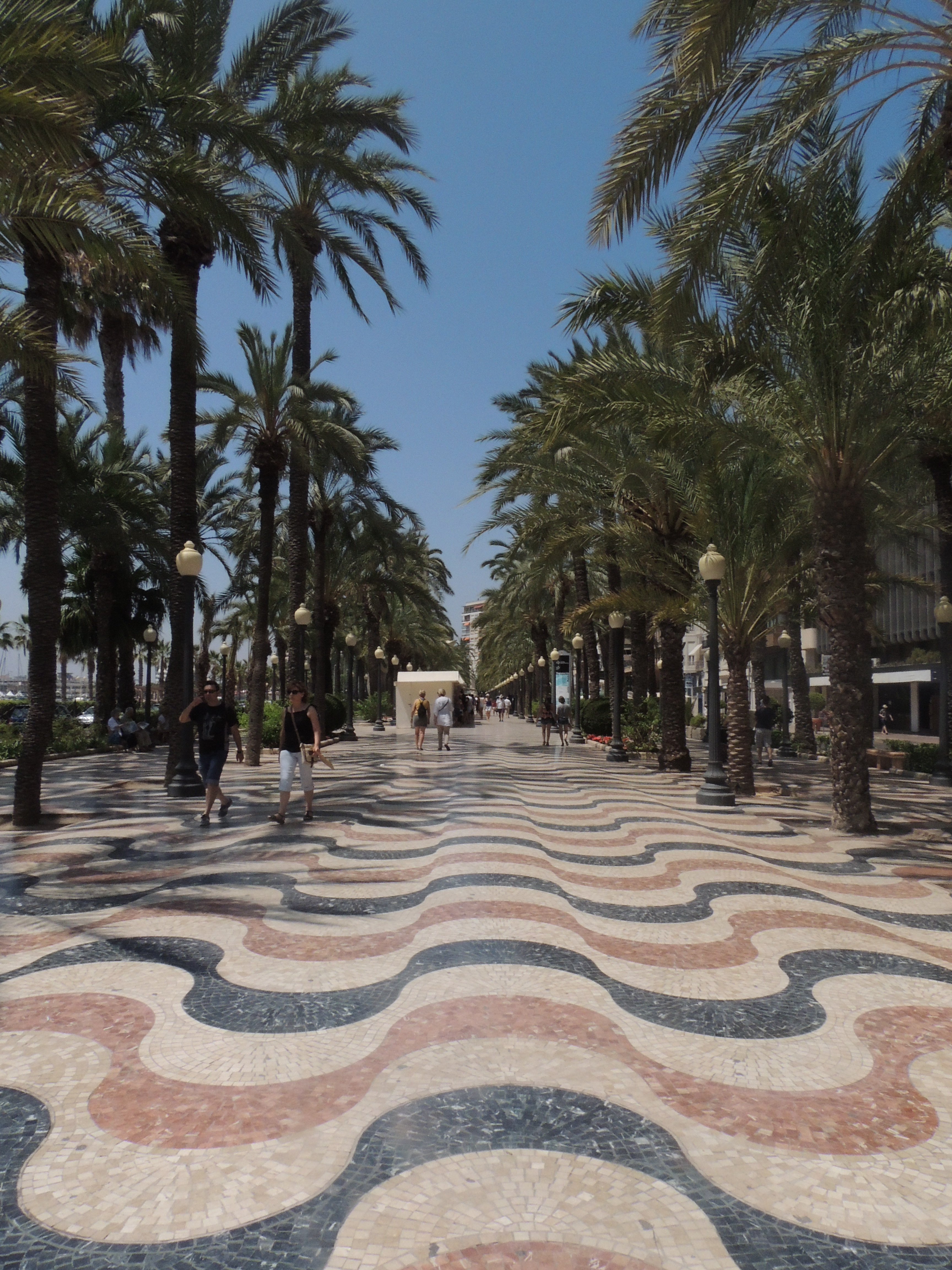 The mosiac walkway of Alicante that features on postcards
