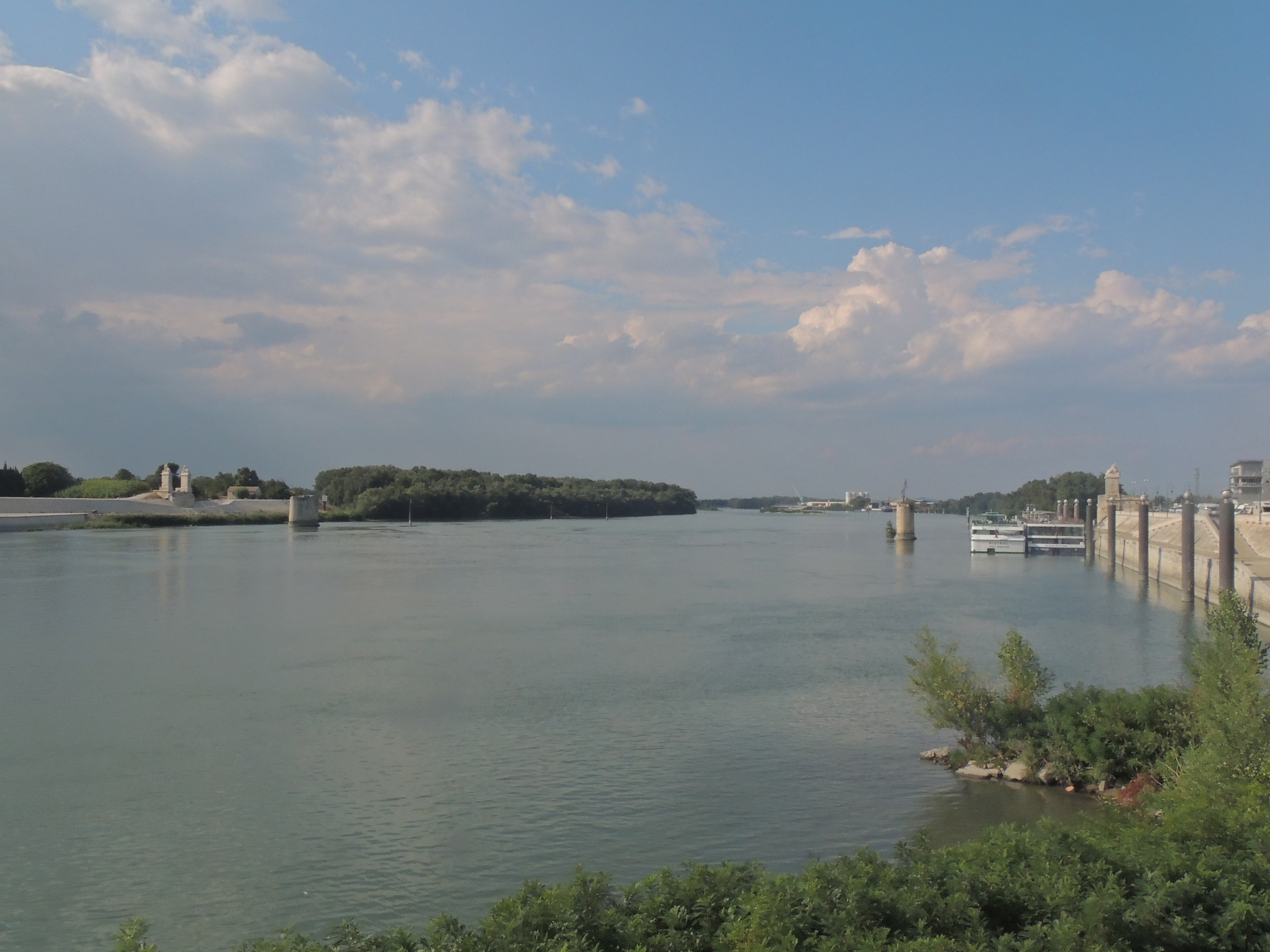 The site of Starry Night Over the Rhone