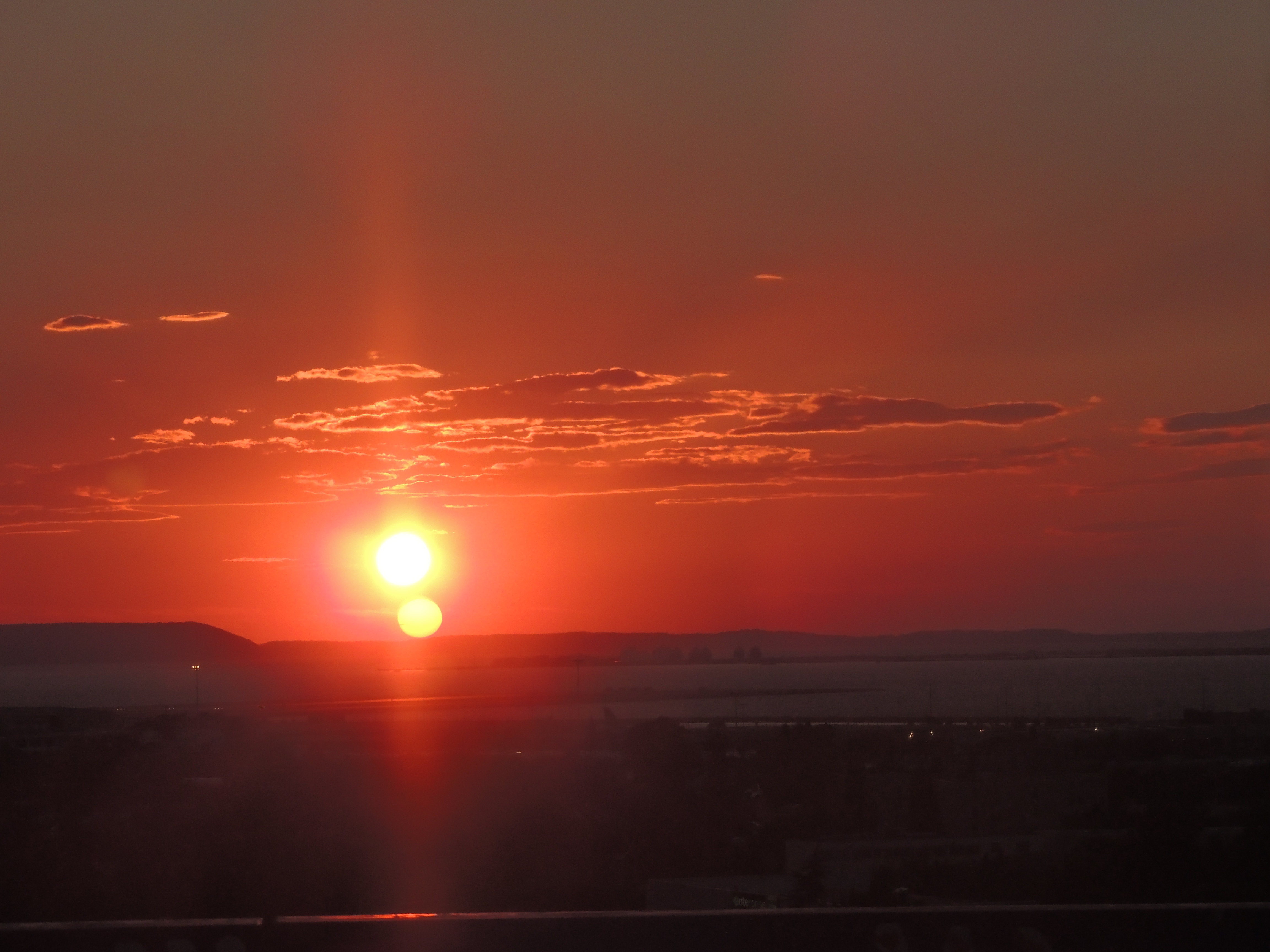 Taken from the train: The sun setting over Arles