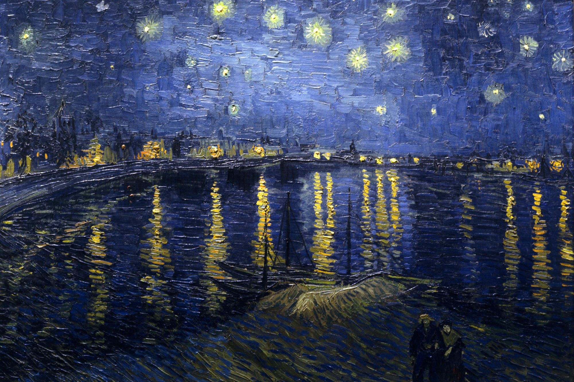 Starry Night Over the Rhone in courtesy of Wikimedia Commons License