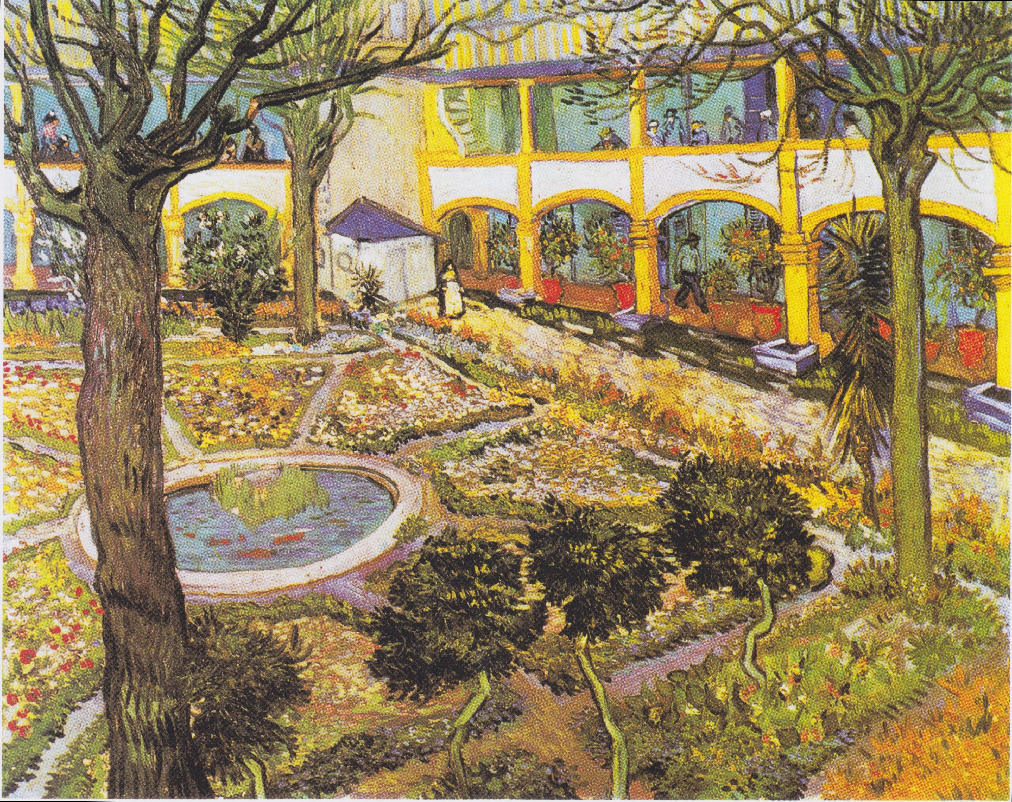 Garden of the Hospital in Arles courtesy of the Wikimedia Commons License