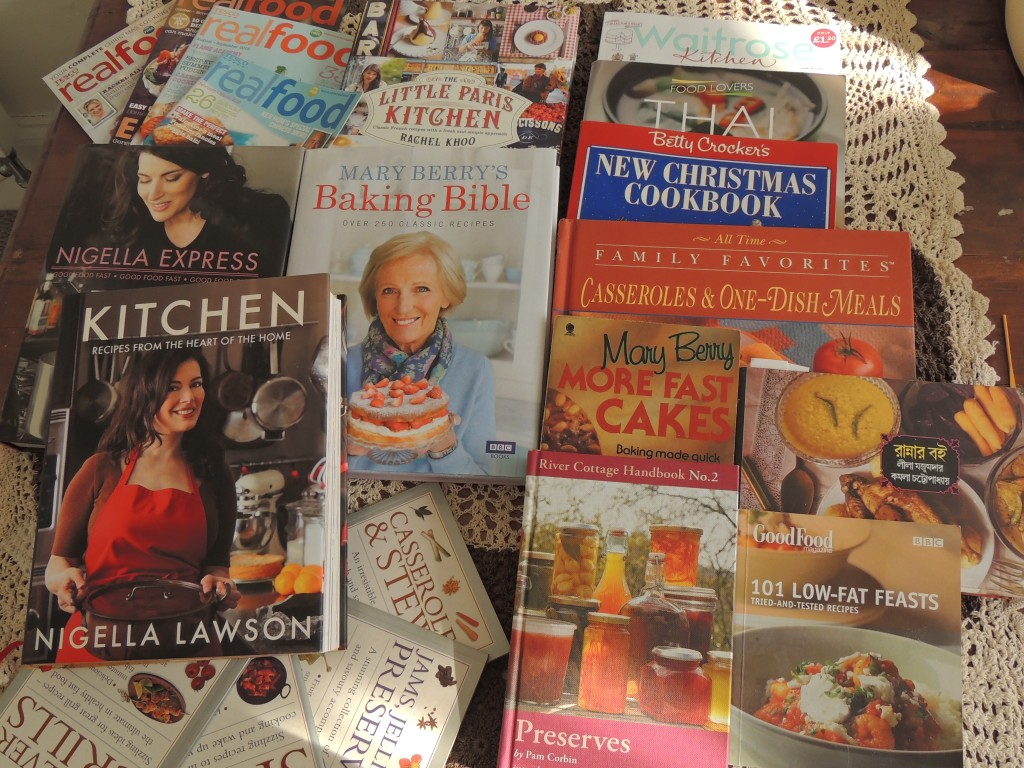 Picture of a collection of cookbooks