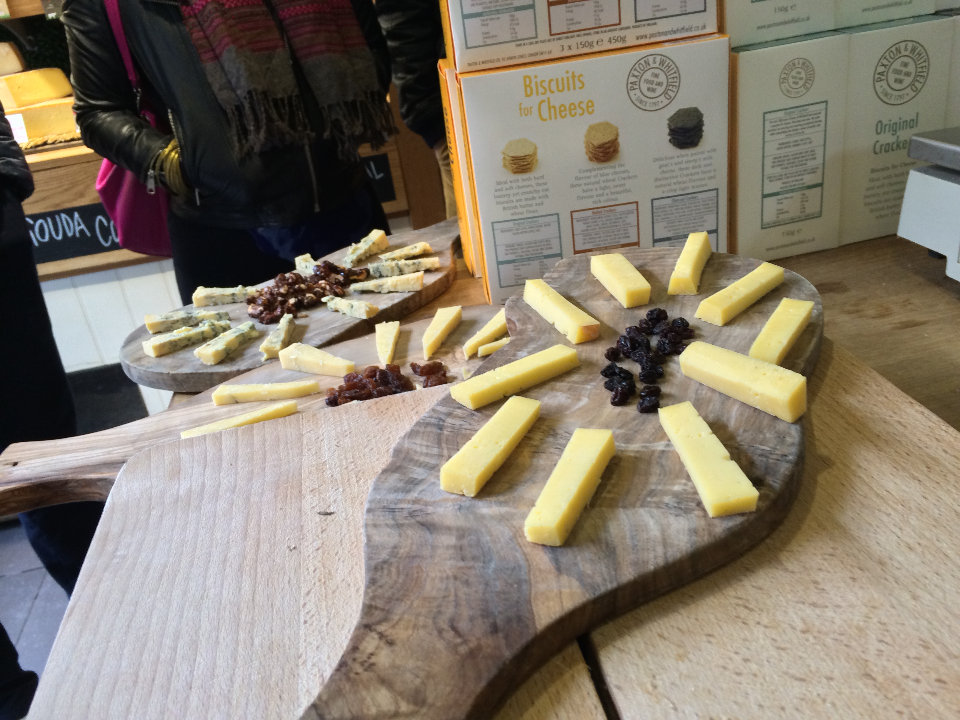 Cheese tasting at Androuet