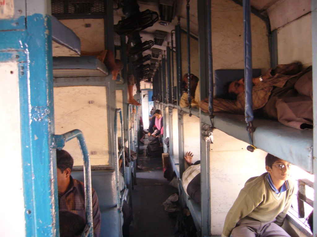Indian Railways sleeper coach - Wikimedia Creative Commons License - Author -Dforest
