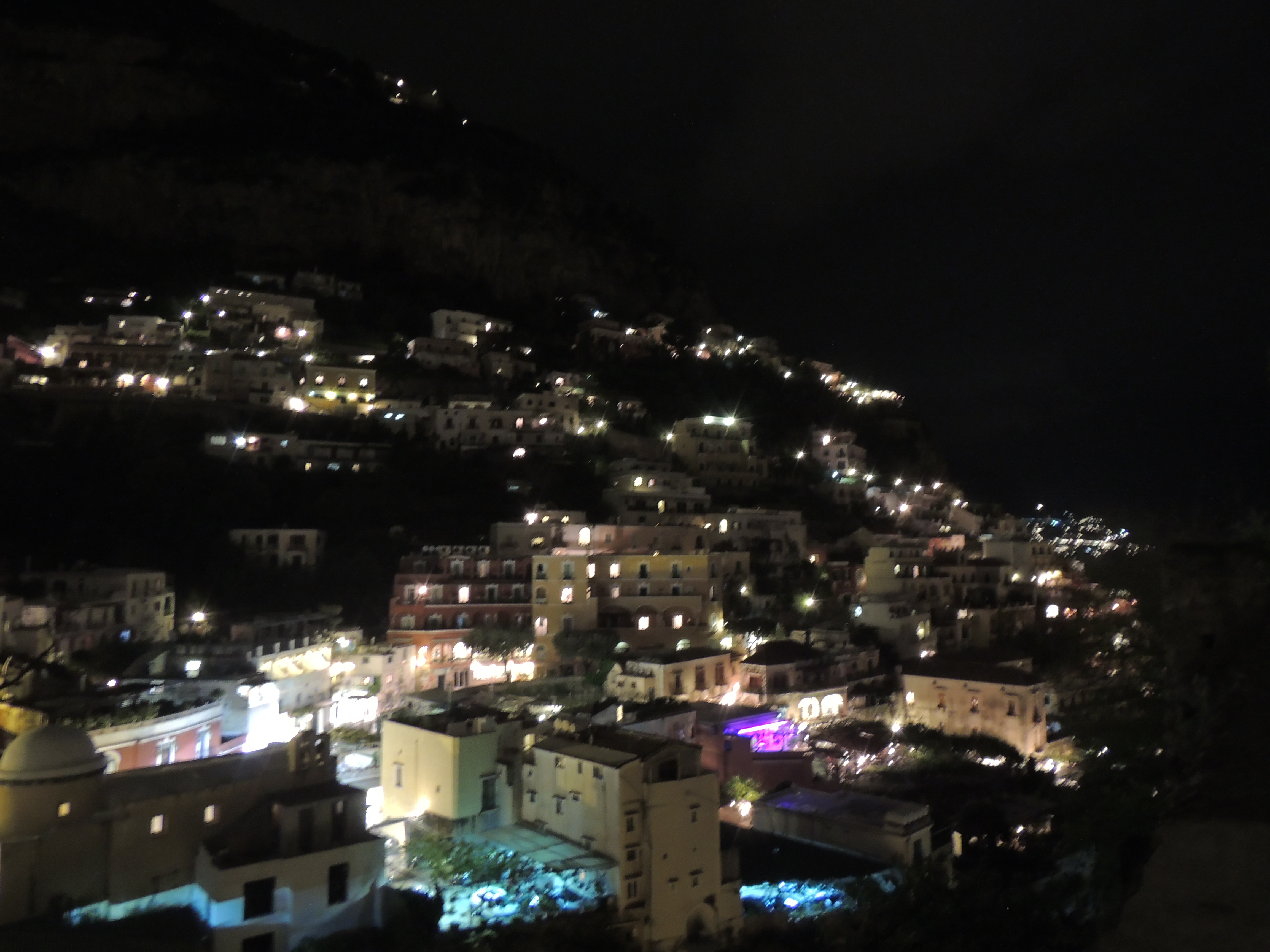 Positano in the night