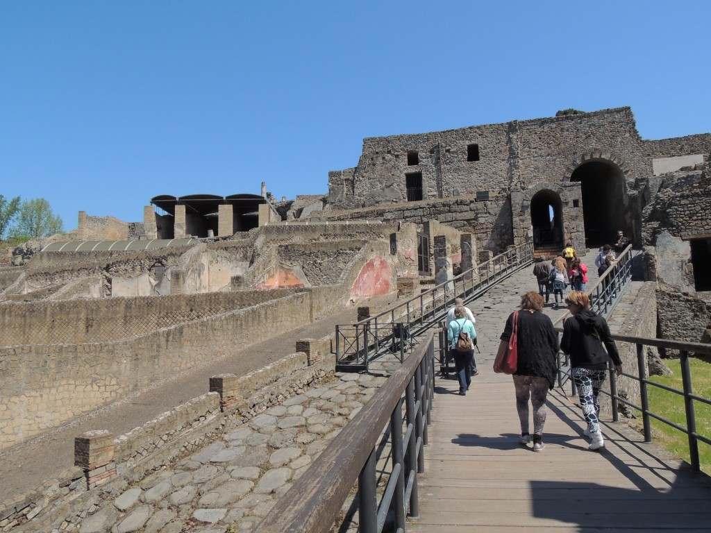 The gates of Pompeii. We started off with a map and an audio guide