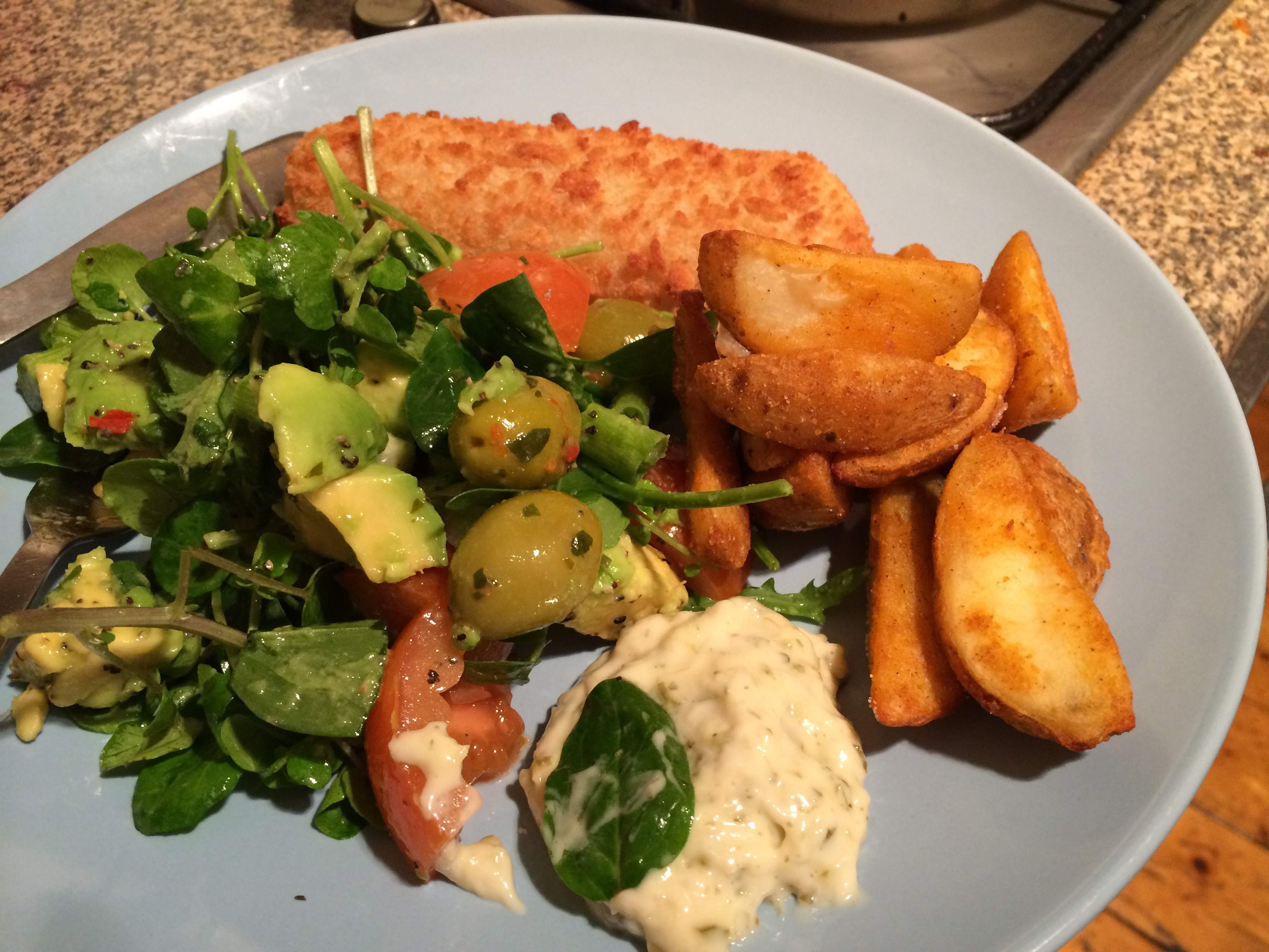 Joie de vivre with haddock  and chips