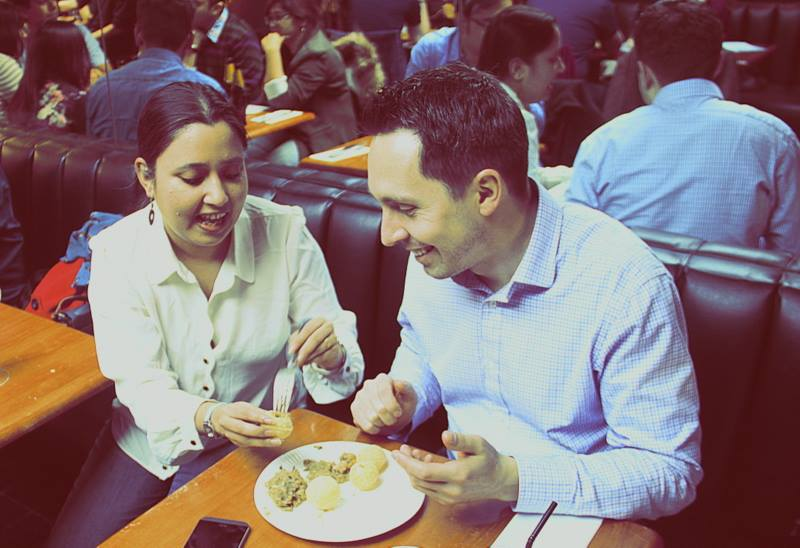 How to eat a Phuchka at Calcutta Street Food Pop Up